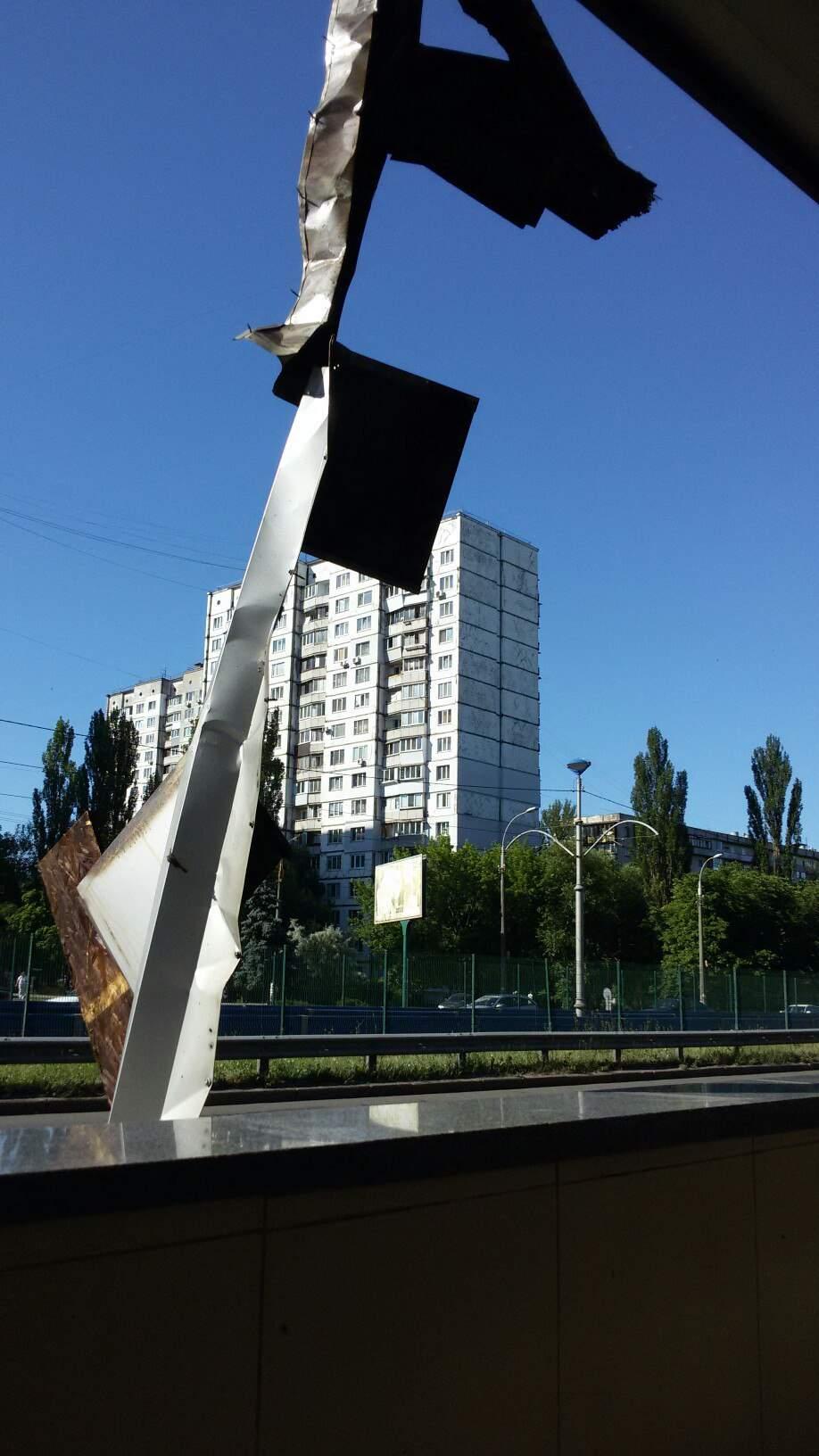 В Киеве подожгли вход в метро (фото)