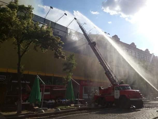 Масштабный пожар в Киеве был ликвидирован (Видео)
