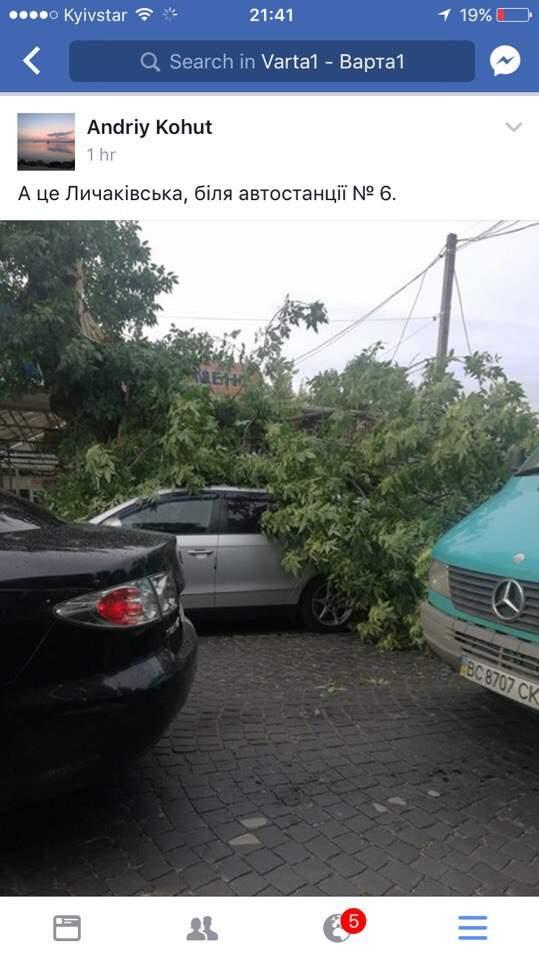 На Львов и Одессу обрушился сильнейший шторм (фото, видео)