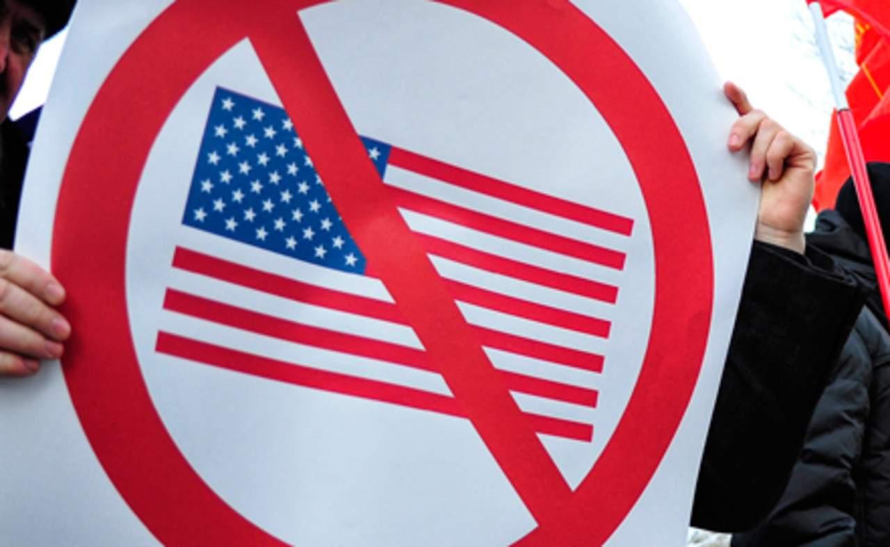 В КНДР проходят антиамериканские протесты с лозунгами: