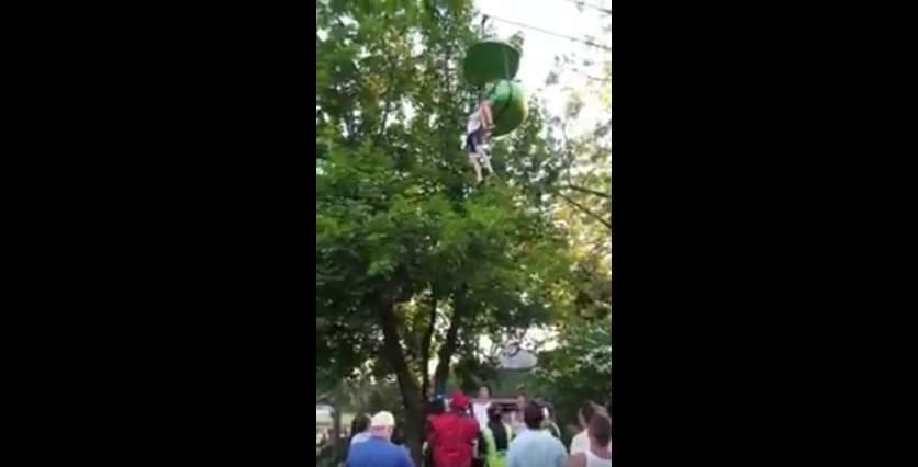 Трагедия в парке аттракционов в США: 14-летняя девочка сорвалась с высоты семи метров (видео)