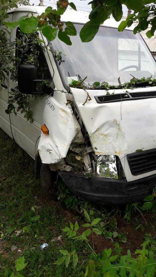 На Житомирщине пьяный водитель на микроавтобусе совершил наезд на двух детей (фото)