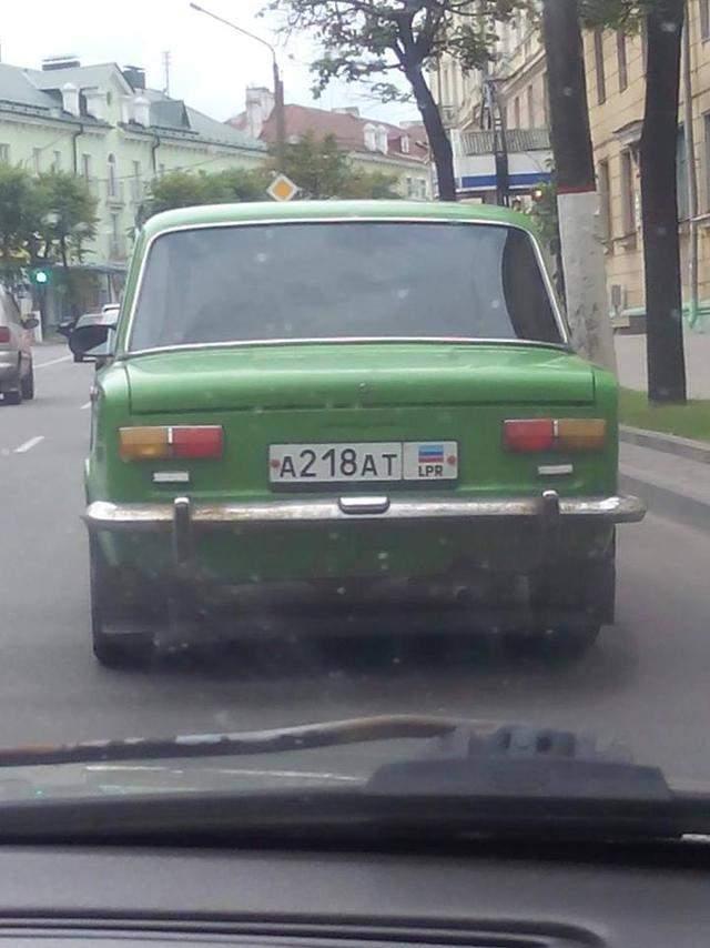 В Белоруссии заметили автомобиль с номерными знаками