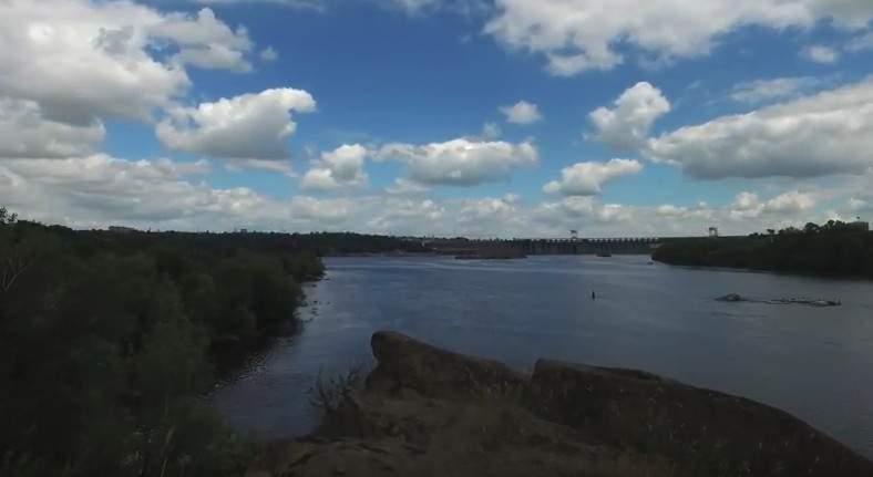 Запорожье с высоты птичьего полёта (видео)