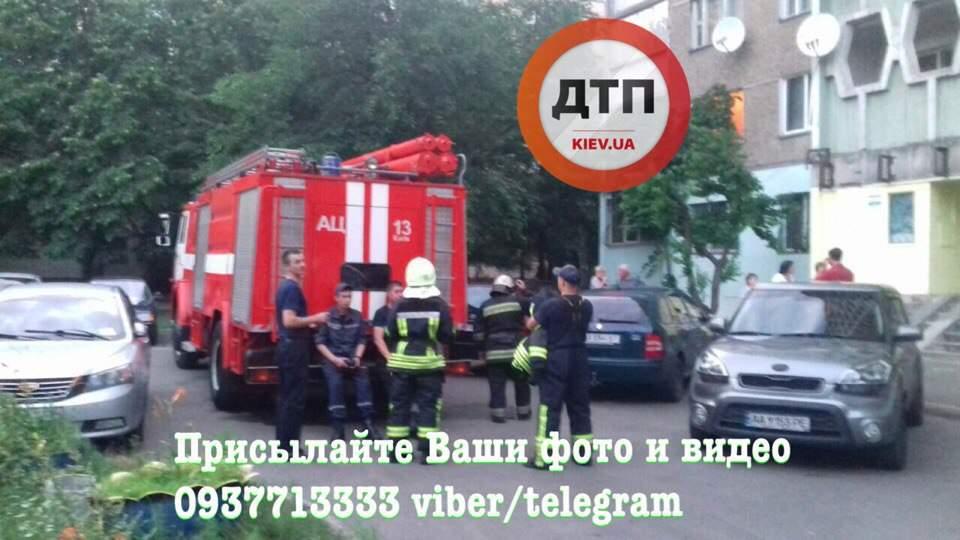 В Киеве наркоман по собственной неосторожности поджёг балкон (фото)