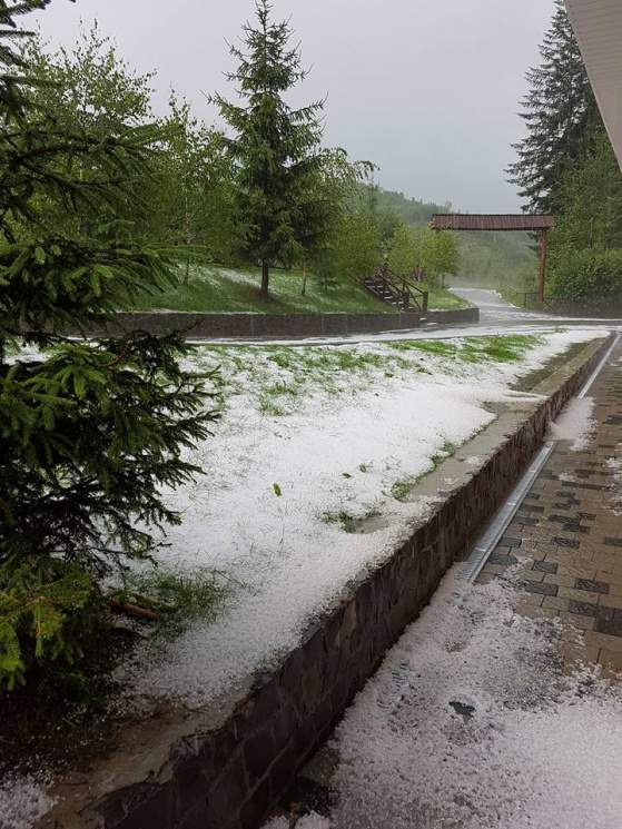 Летняя аномалия: Закарпатье засыпало мелким снегом (фото)