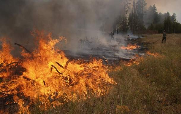 В Днепропетровской области горел военный полигон
