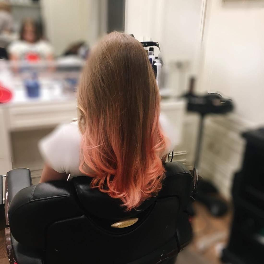 Эксперименты с прической: 11-летняя дочь популярной украинской телеведущей сделала розовое омбре (фото)