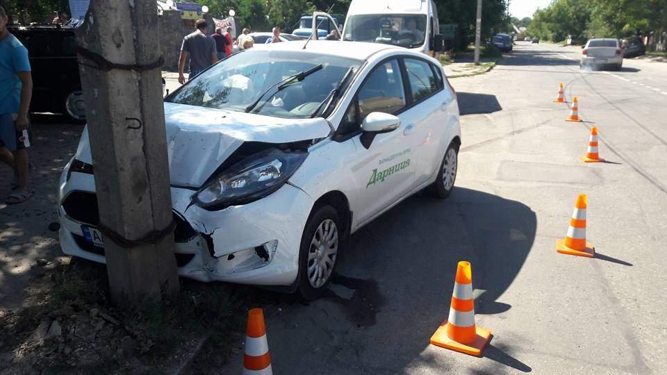 В результате аварии в Виннице разбились два авто (фото)
