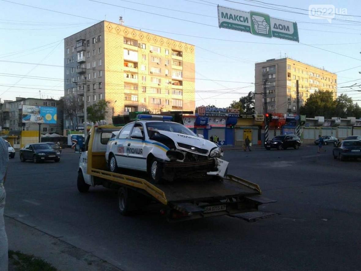 В Кропивницком полицейские попали в аварию (Фото)
