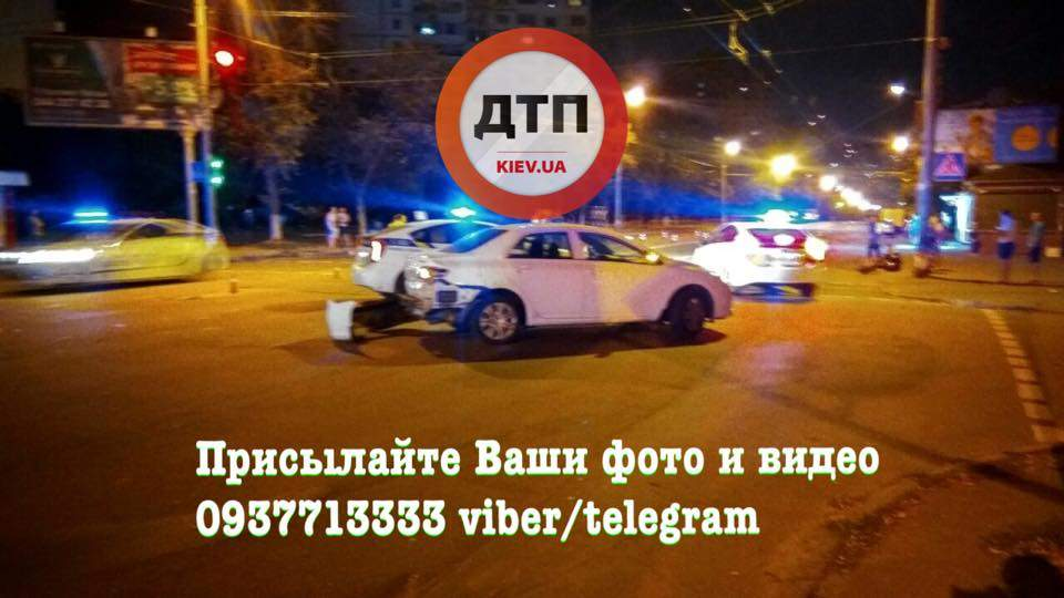 В столице таксист сбил мотоциклиста (Фото)