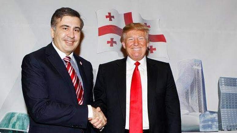 Саакашвили похвастался снимком с Трампом (фото)