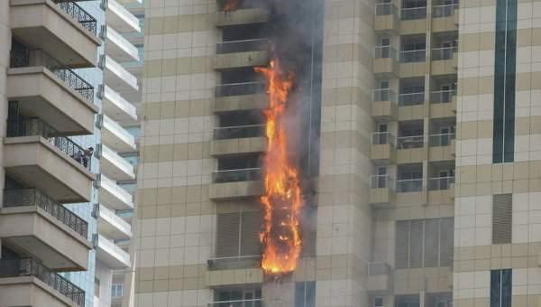 В Дубае снова пылал небоскреб (Фото)