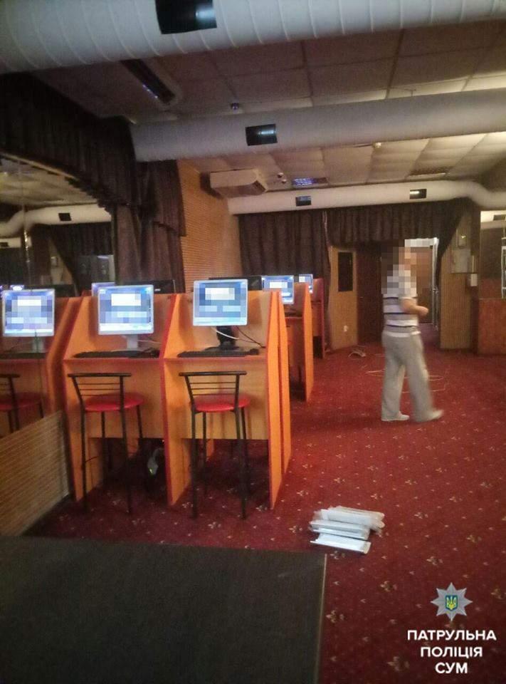 Сумские правоохранители разоблачили нелегальный игровой клуб