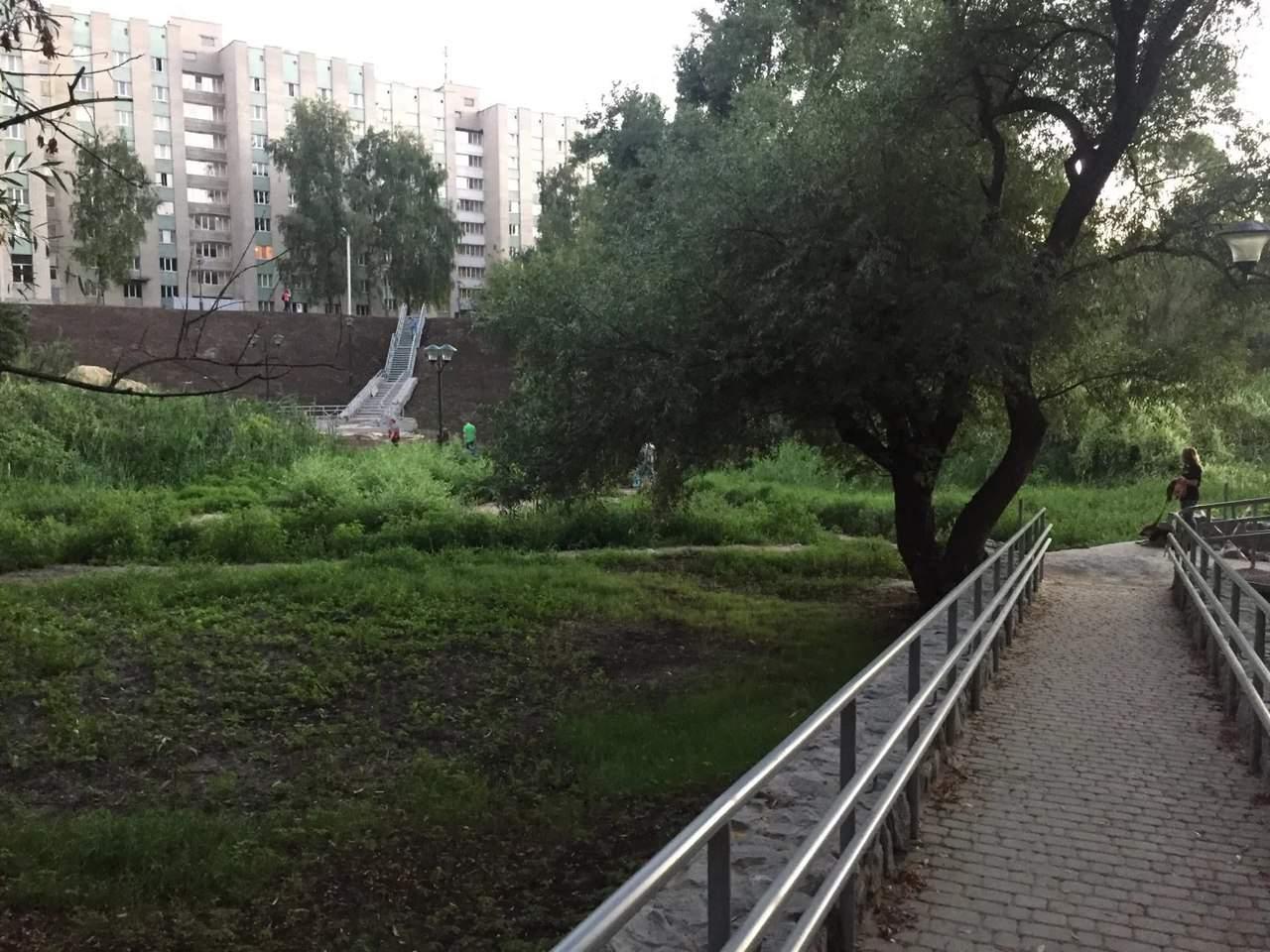 В Харькове начали строительство сквера (фото)