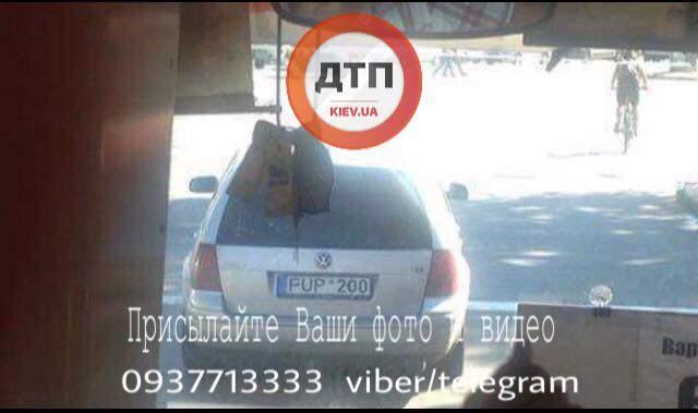 В Киеве автомобилист