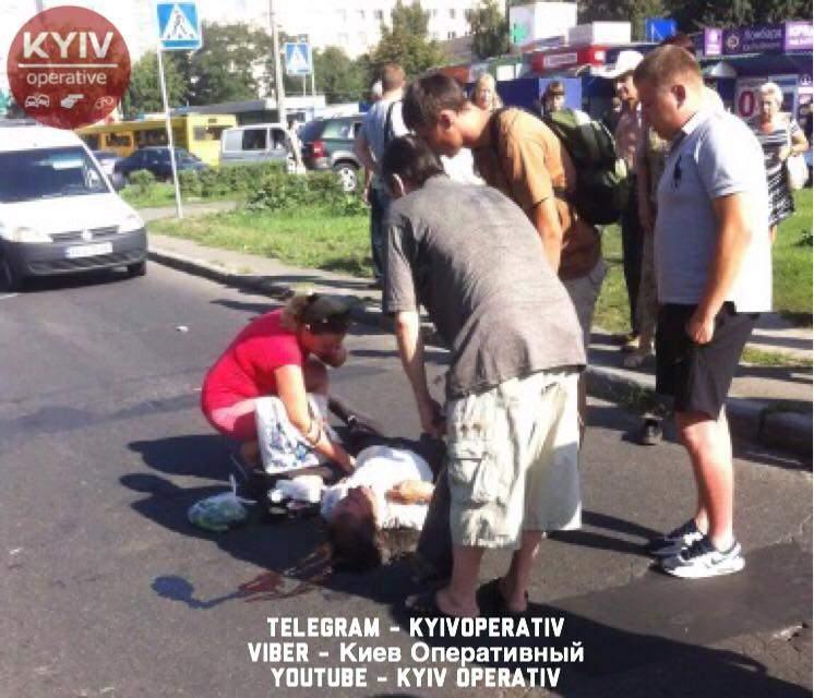 В Киеве произошла ещё одна авария с пострадавшими (фото)