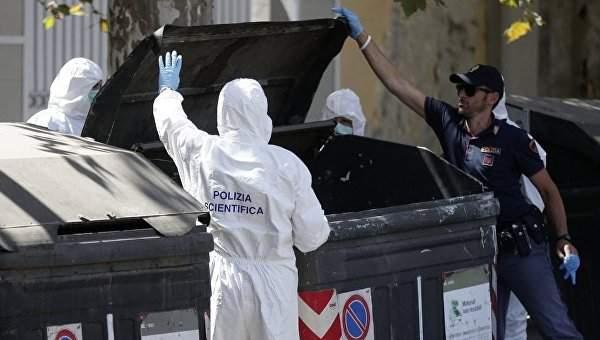 В Риме в мусорном контейнере были обнаружены две женских ноги