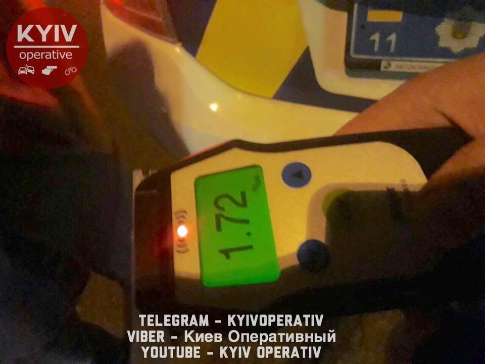 В столице задержали любителя выпить за рулем (Фото)