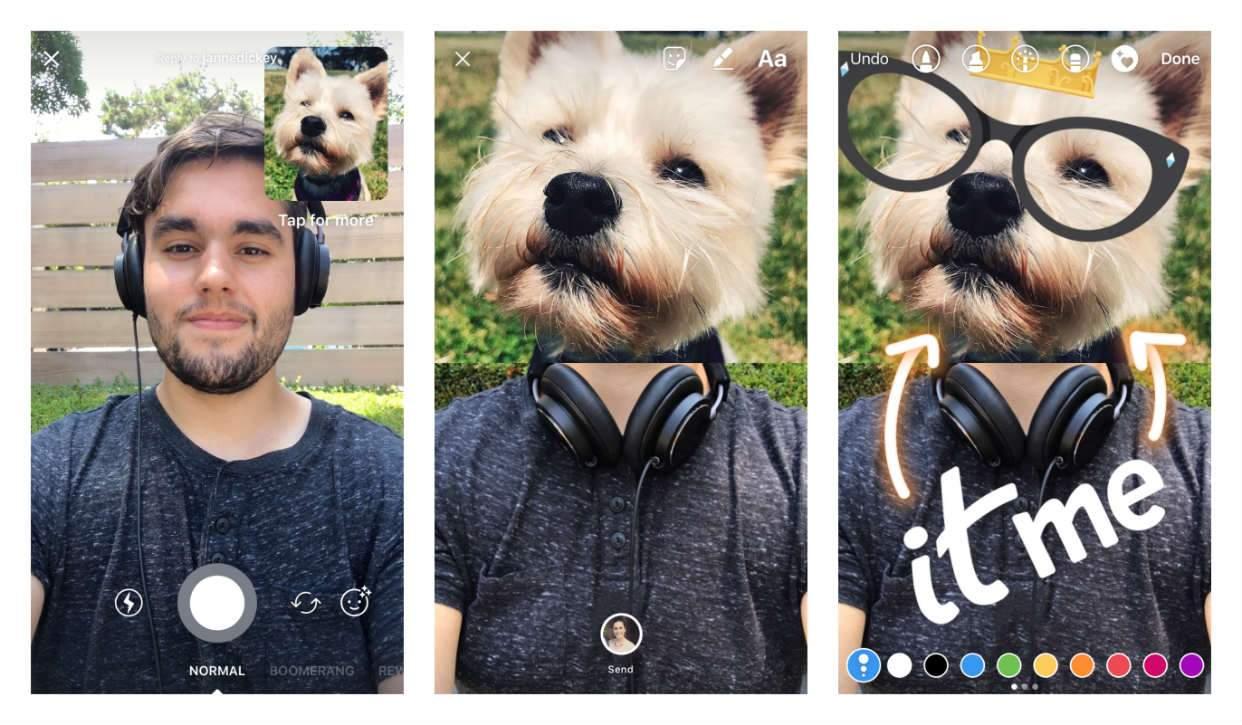 Instagram добавил возможность отвечать в чатах и историях с помощью видео и коллажей