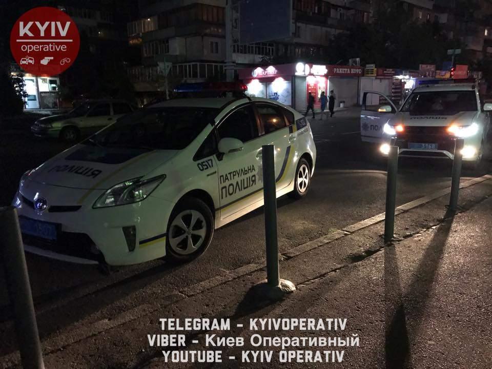 В Киеве экипаж полиции преследовал непростого водителя Daewoo за нарушение ПДД (Видео, фото)