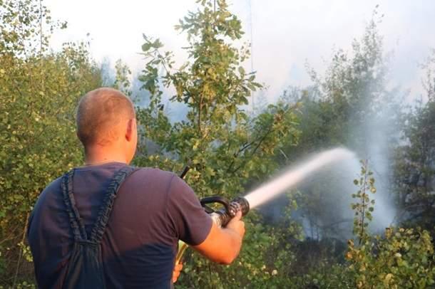 Масштабный пожар в Киеве: Горело четыре гектара сухого настила (Видео)