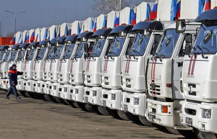 Из России на Донбасс отправились фуры с гуманитарным грузом