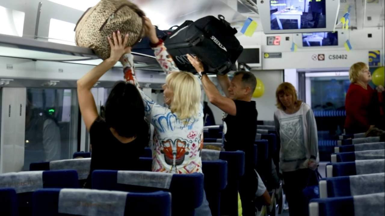 Из Киева в Перемышль отправился первый поезд «Интерсити» (фото)