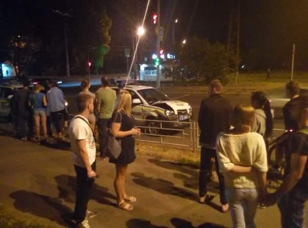 Харьковские полицейские попали в ДТП (Фото)