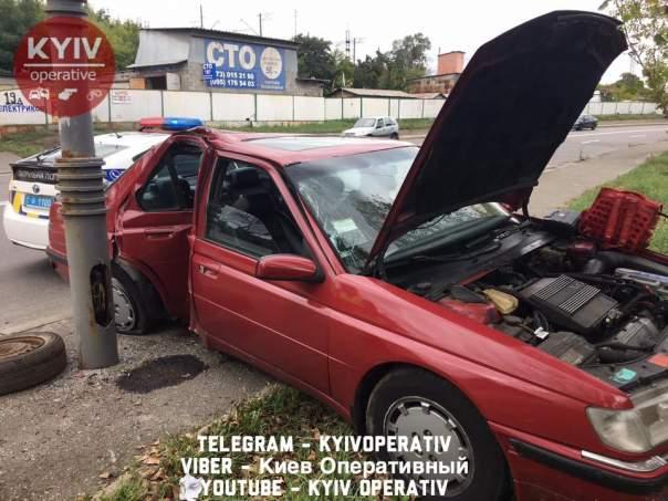 В столице женщина попала в ДТП после недавнего ремонта авто (Видео)
