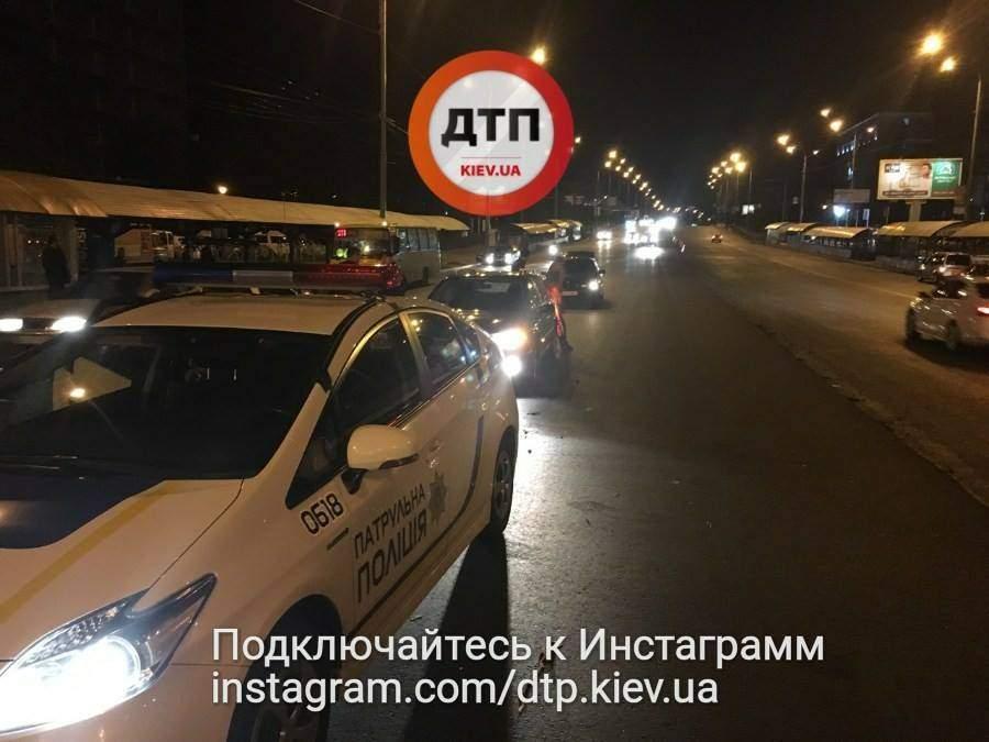 В Киеве виновник ДТП устроил драку (фото)