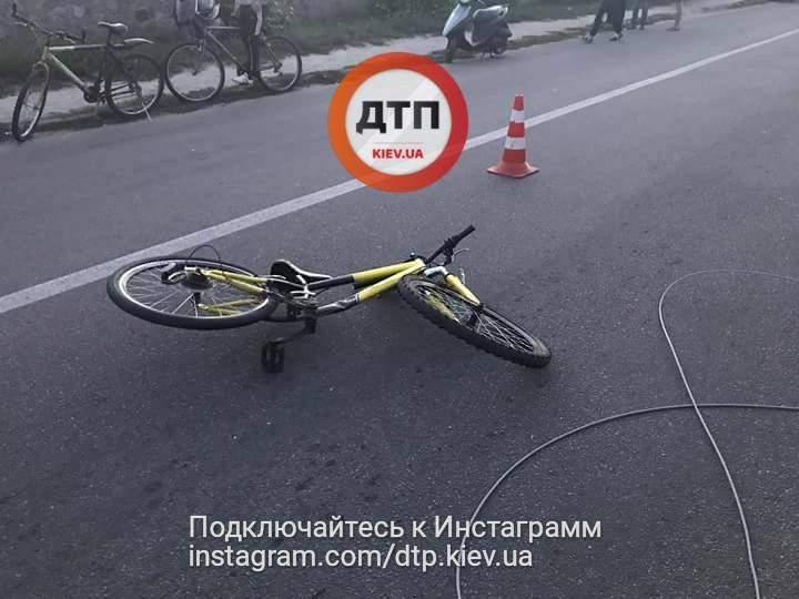 Под Киевом 8-летний велосипедист попал под колеса правоохранителей (Фото)