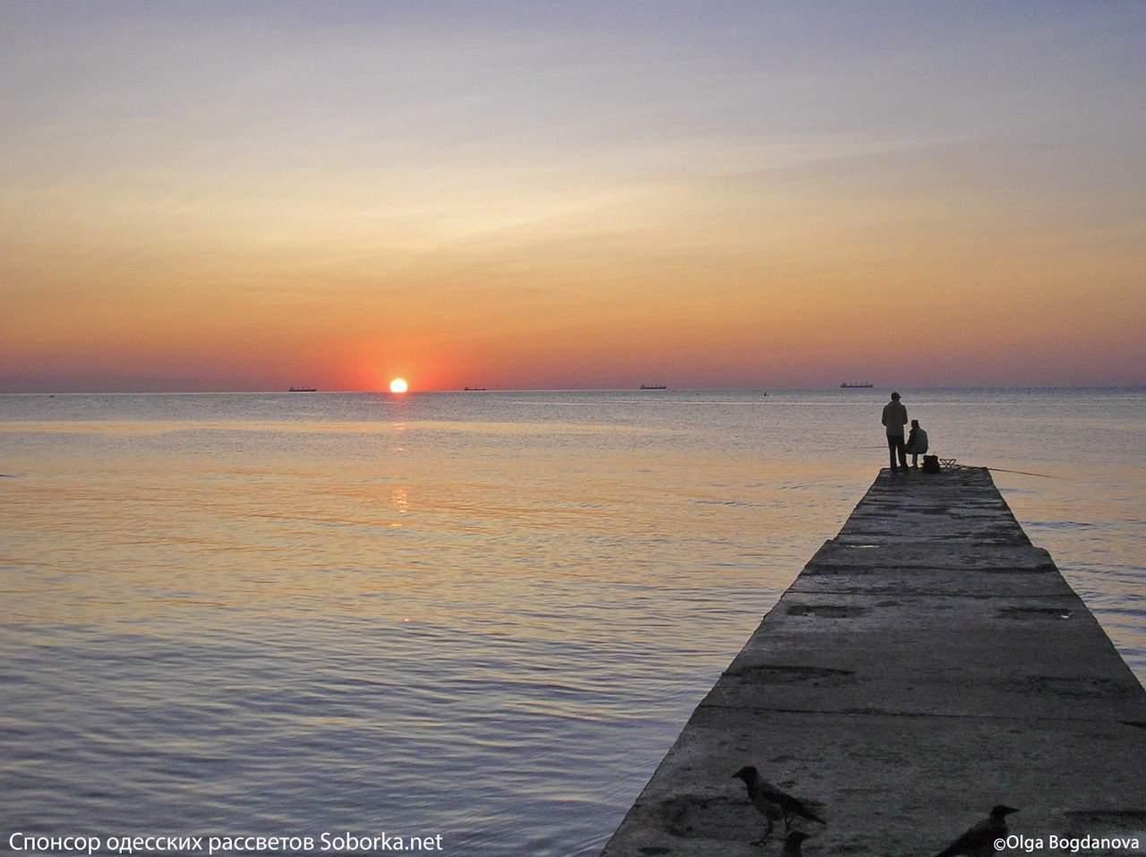 Одесские сказочные рассветы на берегу моря (Фото)
