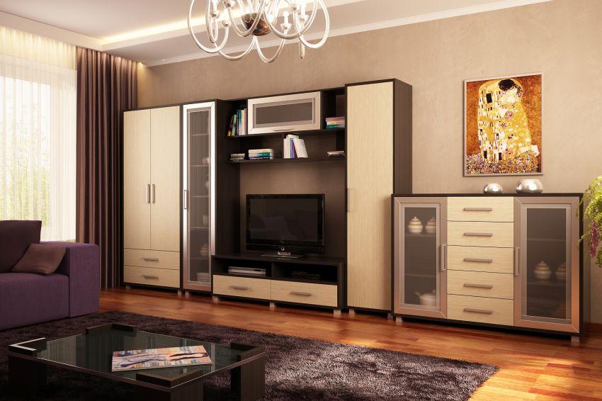 Где купить гостиные стенки в Москве
