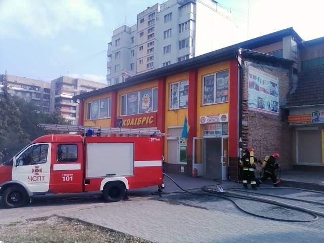 В Ивано-Франковске произошел крупный пожар: Горел магазин (Фото)