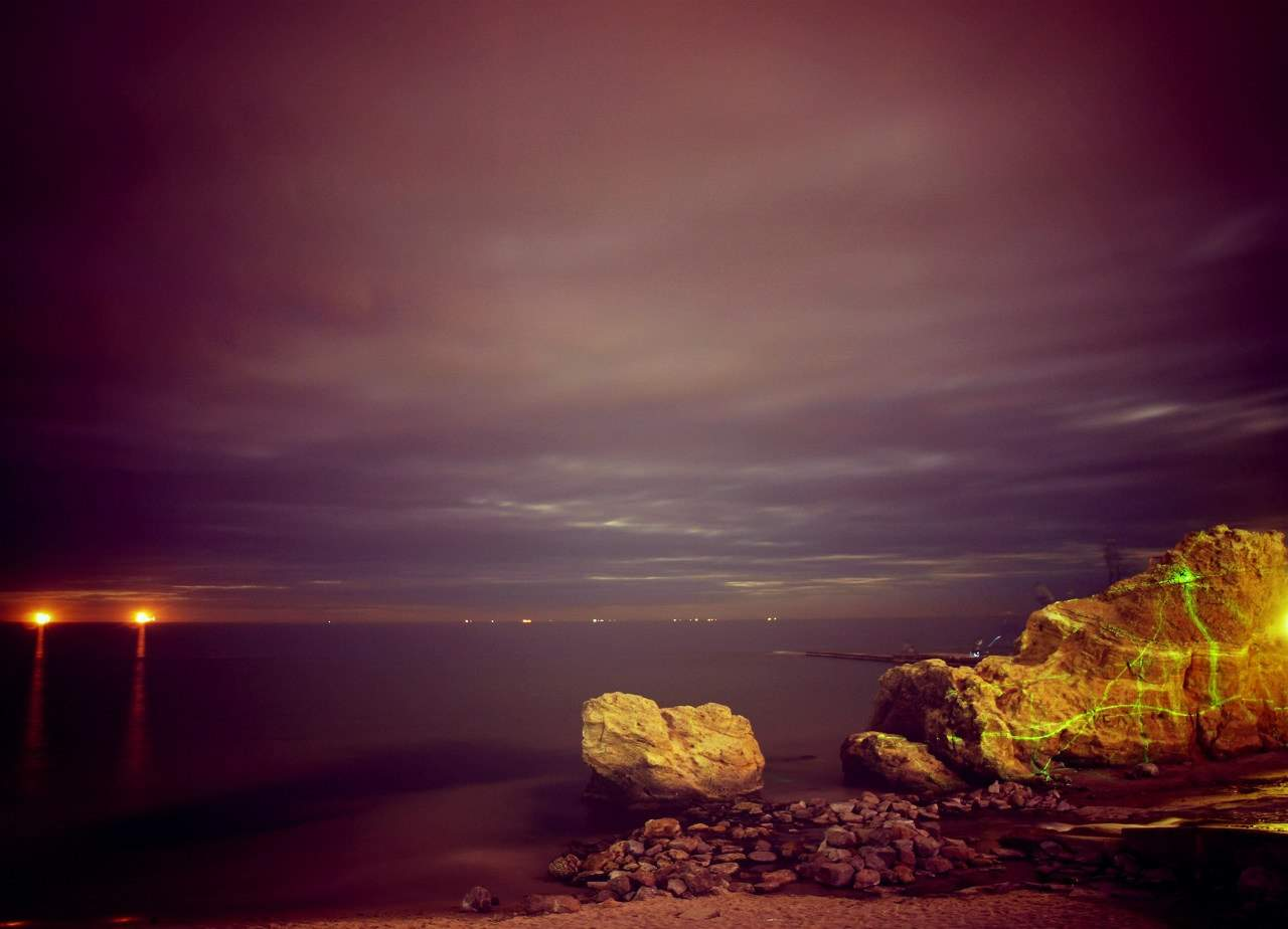 Ночная Одесса завораживает своими красотами (Фото)
