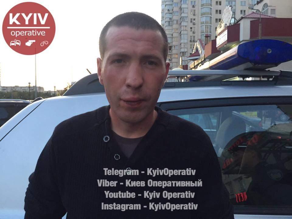 В Киеве вор не смог убежать от супруга своей жертвы (Видео)