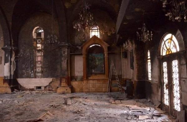 В Сирии разграбленный террористами храм ускоренными темпами восстанавливают