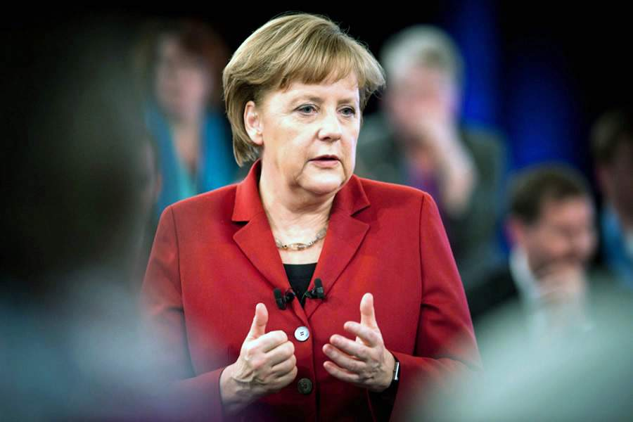 Меркель поразила джазовой импровизацией на предвыборном мероприятии (видео)
