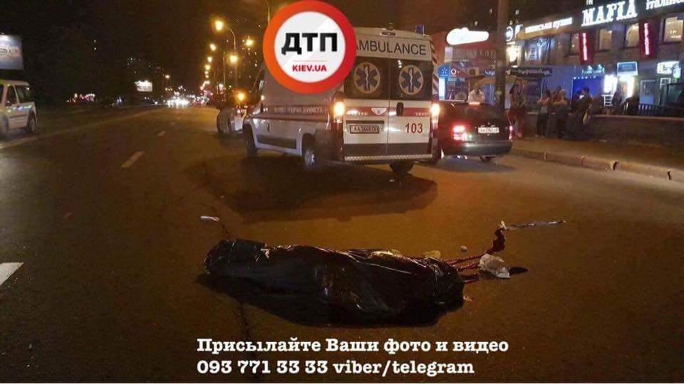 В Киеве маршрутка насмерть сбила пьяного пешехода (Фото)