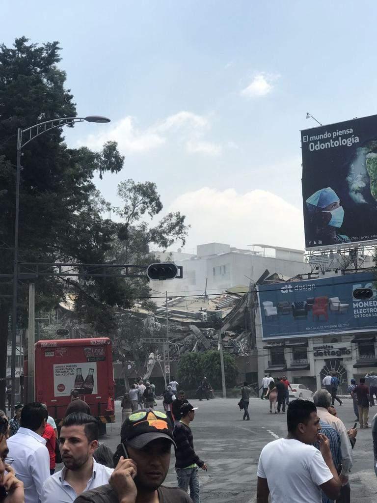 Мексику всколыхнуло разрушительное землетрясение (Видео)