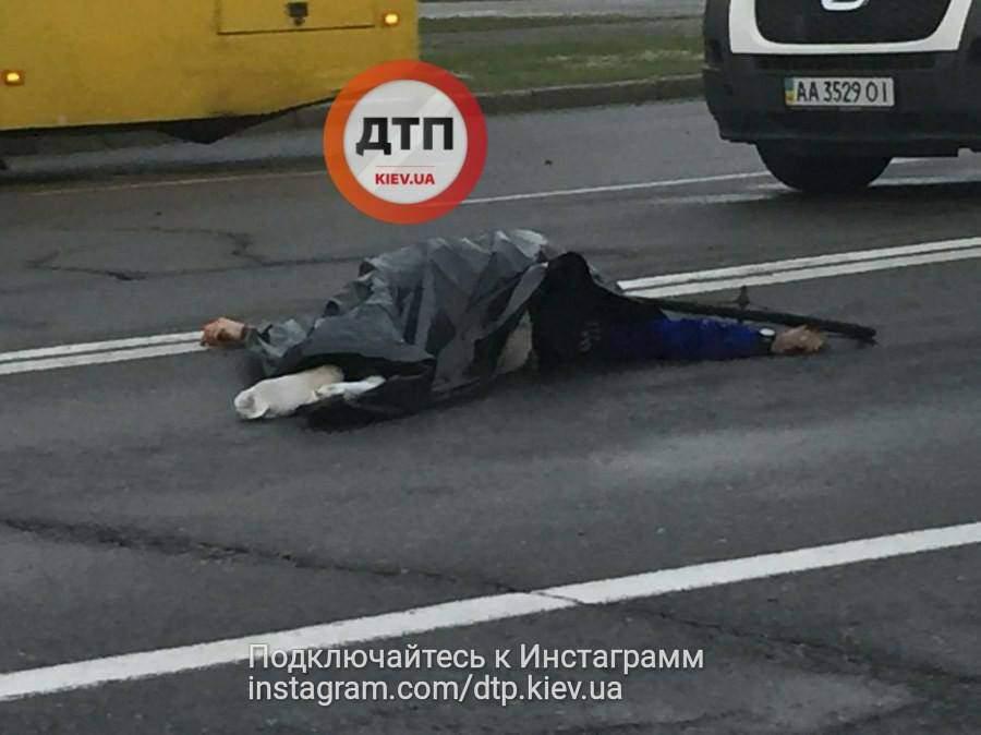 В столице насмерть сбили велосипедиста (Фото)