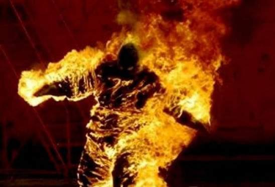 В Харьковской области мужчина сжег сам себя