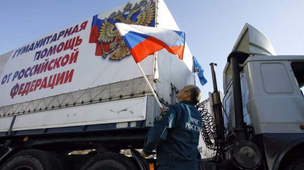 ОБСЕ зафиксировала российский гумконвой на территории Украины