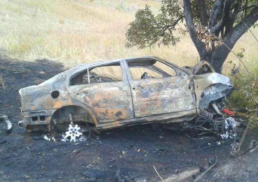 На Харьковщине Skoda влетела в дерево и загорелась: 2 человека погибли мгновенно (фото)