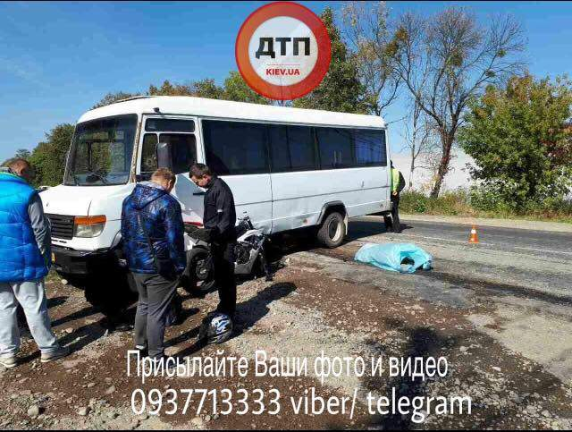 В Ивано-Франковске скончался мотоциклист (Фото)