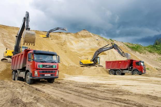 Покупка песка, щебня и отсева в Одессе