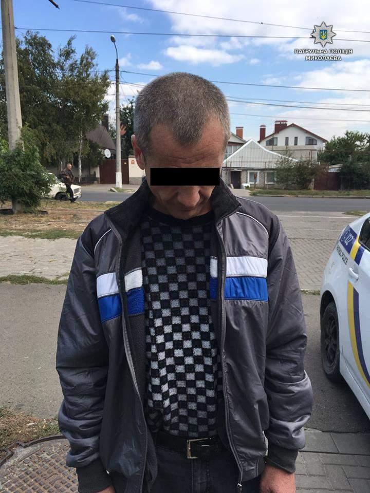 В Николаеве полицейские задержали наркомана (Фото)