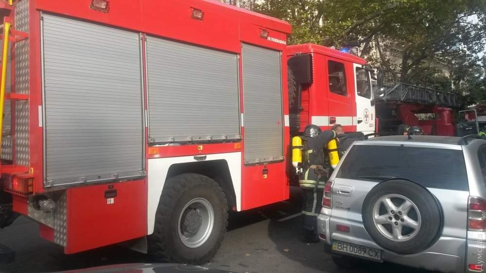 В здании филармонии в Одессе вспыхнул пожар (фото)
