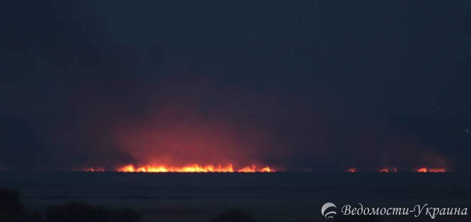 На Одесчине горит Нижнеднестровский национальный природный парк (фото)